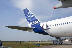 Airbus A350 at MAKS International Aerospace Salon Royalty Free Stock Images