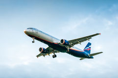 Airbus A321-211 mim Shishkin VP-BQT da LINHA AÉREA Aeroflot Imagens de Stock Royalty Free