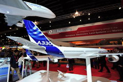 Airbus A330 model on display at Singapore Airshow Royalty Free Stock Image