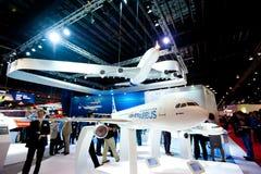Airbus modela planos em Singapura Airshow 2014 Foto de Stock