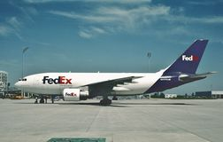 Airbus A310-222 N417FE της Fedex στις 2 Ιουνίου 2006 Στοκ εικόνα με δικαίωμα ελεύθερης χρήσης