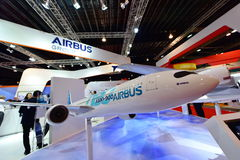 Airbus A330 NEO model on display at Singapore Airshow Royalty Free Stock Images