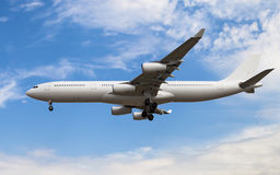 Airbus A340. 300 with no painting Royalty Free Stock Photos