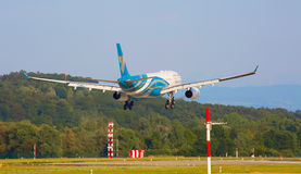 Airbus A330 Oman Air Imagem de Stock Royalty Free