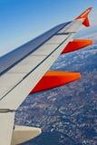 Airbus A320 operou-se por voos de EasyJet sobre Lisboa Foto de Stock Royalty Free