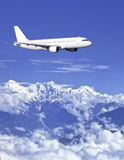 Airbus over Himalaya Stock Photo