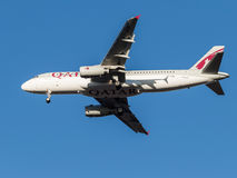 Airbus A320 passenger aircraft, the airline Qatar Airways Stock Photography