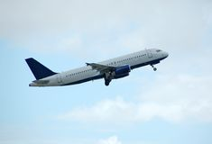 Airbus passenger liner. Airbus A-320 unmarked taking off Stock Photos