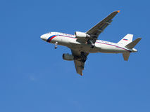 Airbus A319-111 passenger Royalty Free Stock Images
