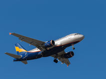 Airbus A319 passenger plane Royalty Free Stock Photography