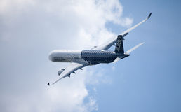 Airbus A 350 - 900 plane flight on airport in Berlin Royalty Free Stock Image
