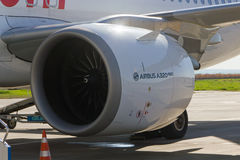 Airbus A320 Plane NEO Engine Royalty Free Stock Photography
