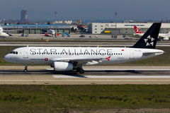 Airbus A320 Plane Star Alliance Stock Images