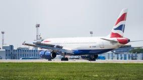 Airbus A320 por British Airways Fotografia de Stock Royalty Free