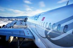 Airbus A 319 prêt à voler Photos stock