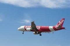 Airbus A320 216 prêt pour le débarquement Images libres de droits