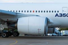 Airbus A350-900 prepara-se para um voo da demonstração Fotos de Stock