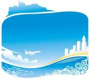 airbus przyjazdowa miasta linia brzegowa ilustracji