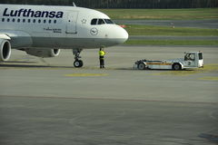 Airbus Pushed Back for Departure Royalty Free Stock Photos