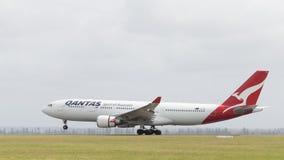 Airbus A330-203 Qantas Airways, Austrália Foto de Stock
