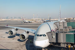 Airbus A380 in Qatar Royalty Free Stock Photo