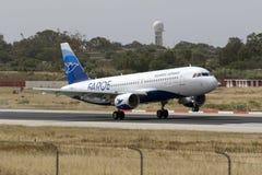 Airbus que toca para baixo Imagens de Stock Royalty Free