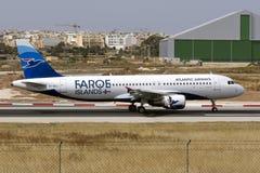 Airbus que toca para baixo Imagem de Stock Royalty Free