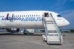 Airbus A 350 Rússia, Moscovo Em agosto de 2015 Imagem de Stock Royalty Free