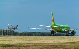 Airbus A 319 S7 Airlines at airport apron Royalty Free Stock Photos
