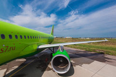Airbus A 320 S7 Airlines at airport apron Royalty Free Stock Photos