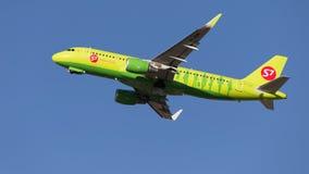 Airbus A320 S7 Airlines voa Fotografia de Stock Royalty Free
