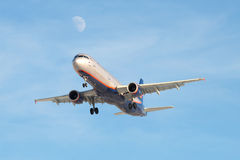 The Airbus A321-211 S. Diaghilev ( VP-BTR) of the company Aeroflot Stock Images