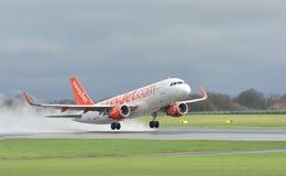 a320 Airbus samolotu reklamy easyjet Obraz Stock