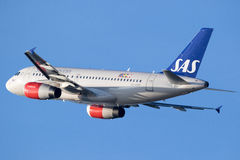 Airbus A319 from SAS Scandinavian Airlines Stock Photography