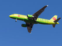 Airbus A320, Sibir S7 Airlines Imagem de Stock Royalty Free