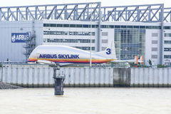 Airbus Skylink. In front of Airbus Hall in Hamburg Royalty Free Stock Photography