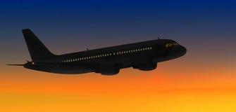 Airbus-Sonnenuntergang Lizenzfreie Stockbilder