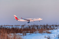 Airbus a330 SriLankan Airlines Imagens de Stock Royalty Free