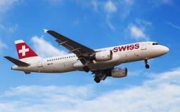 Airbus suíço A320 Foto de Stock Royalty Free