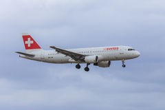 Airbus suisse A320 Photo stock