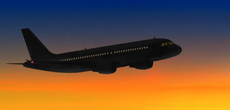 Airbus sunset Royalty Free Stock Images