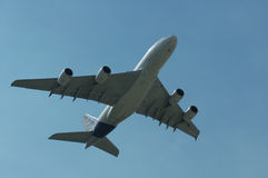 Airbus super A380 Foto de Stock Royalty Free