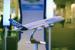 Airbus a380 super jumbo. Model Royalty Free Stock Photo