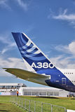 Airbus A380 tail section Stock Photography