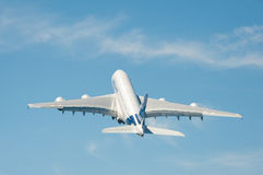 Airbus A380 take-off Royalty Free Stock Photography
