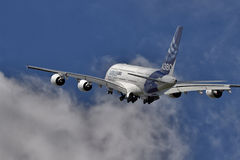 Airbus A380 taking off Royalty Free Stock Photo