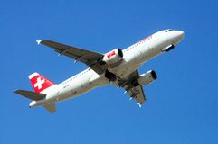 Airbus A320 Taking Off, Spain. Stock Photography