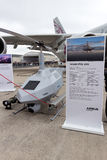 Airbus Tanan UAV. PARIS-LE BOURGET - JUN 18, 2015: Airbus Tanan Unmanned Aerial System (UAS) at the 51st Stock Photography