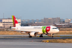 Airbus A320 of the TAP Portugal airline Stock Photo
