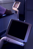 Airbus Television. Television screens located at seats in an airbus royalty free stock image